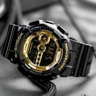 【CASIO 卡西歐】G-SHOCK 強悍亮眼時尚電子錶(GD-100GB-1)