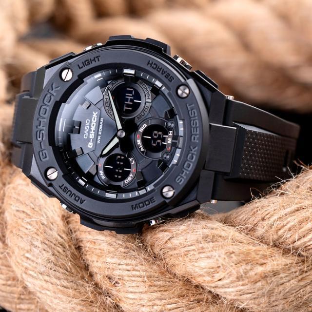 【G-SHOCK】強悍太陽能雙顯運動錶-黑(GST-S100G-1BDR)
