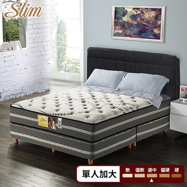 【SLIM 加厚型】高蓬度天絲棉+透氣強化紓壓獨立筒床墊-單人3.5尺