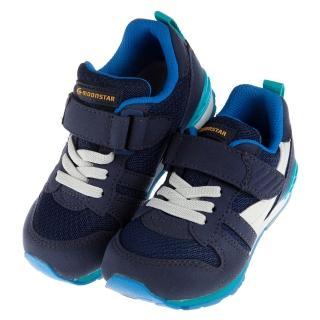 【布布童鞋】Moonstar日本海軍藍流線兒童機能運動鞋(I7U1S3B)