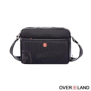 【OverLand】美式十字軍-LOGO浮印拉鍊側背包(3135)