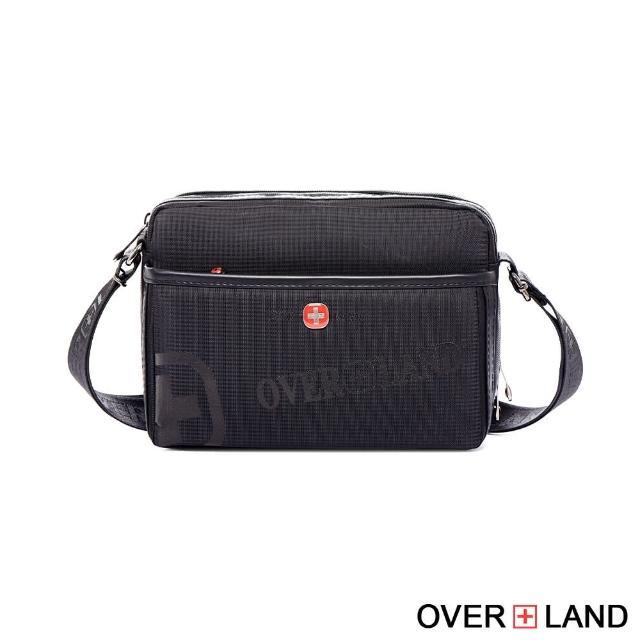 【OVERLAND】美式十字軍-LOGO浮印拉鍊側背包-大款(3135)