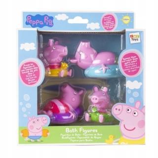 【Peppa Pig】粉紅豬小妹 家庭洗澡公仔組(佩佩豬)