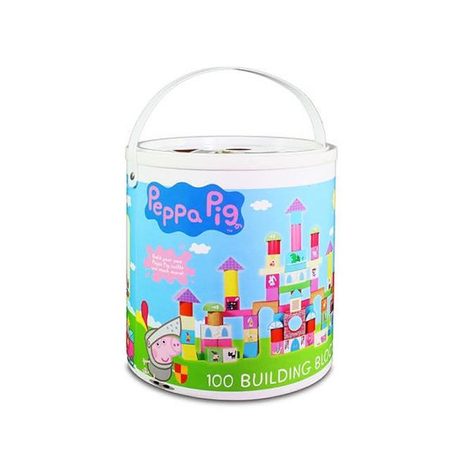 【Peppa Pig】粉紅豬小妹 配對圓型桶裝積木(佩佩豬)