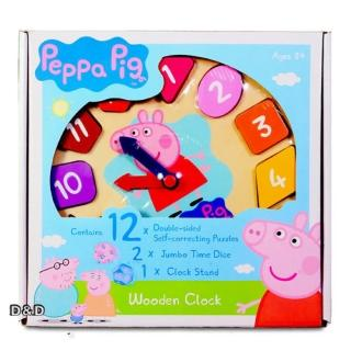【Peppa Pig】粉紅豬小妹 木頭時鐘遊戲組(佩佩豬)