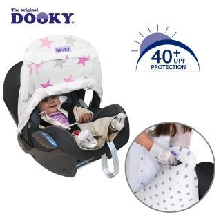 【荷蘭Dooky】抗UV手提汽座前遮陽罩-粉紅星星