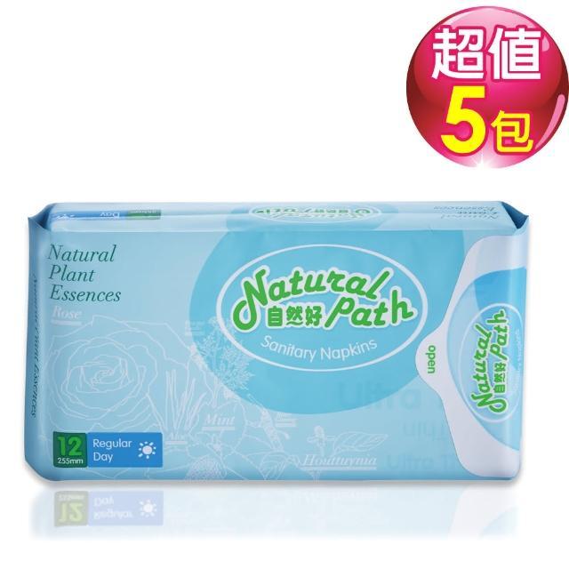 【Natural Path自然好】原萃草本衛生棉 台灣製造(日用型x5包)