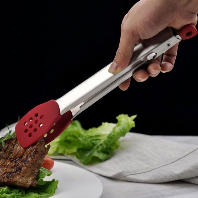 【XESEA】304不鏽鋼耐熱料理食物夾 烤肉夾