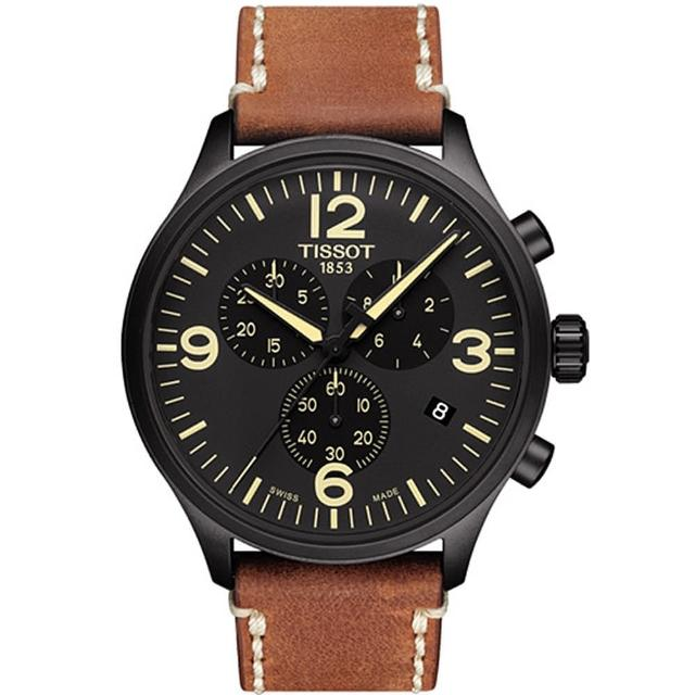 【TISSOT 天梭】T-Sport系列CHRONO XL 三眼經典復古時尚腕錶(T1166173605700)