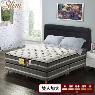 【SLIM 加厚型】高蓬度天絲棉+透氣強化紓壓獨立筒床墊-雙人加大6尺