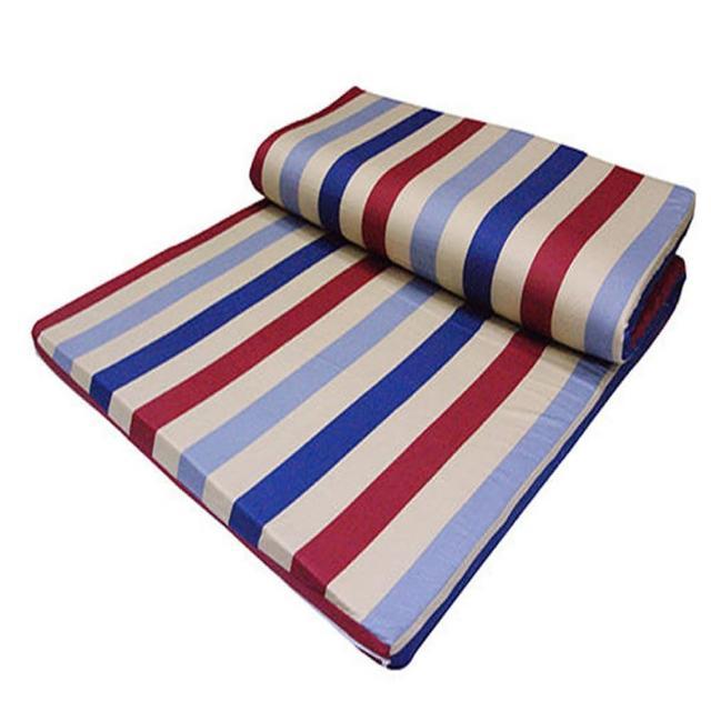 【VICTORIA】雙人天然乳膠床墊-4公分(布套花色隨機出貨)