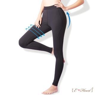 【E‧Heart】運動曲線彈性修飾壓力褲買1送1件組