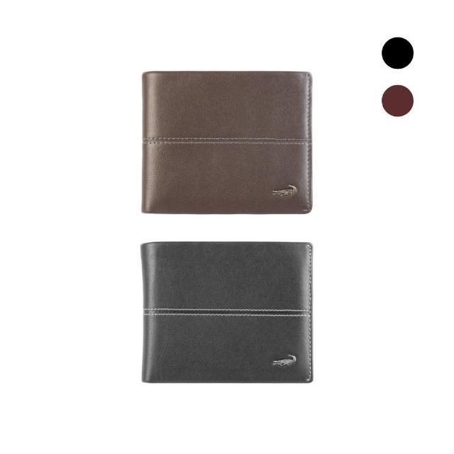 【Crocodile】Classic 經典系列素面軟皮短夾0203-3604(義大利真皮皮革)