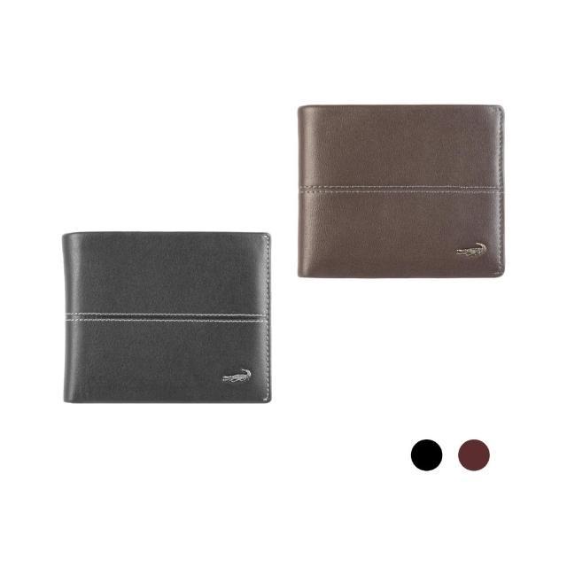 【Crocodile】Classic 經典系列素面軟皮短夾0203-3608(義大利真皮皮革)
