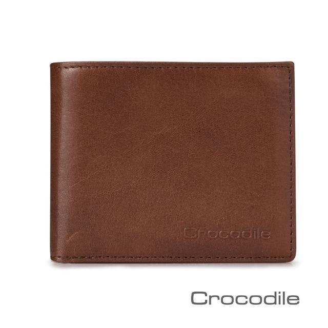 【Crocodile】Natural系列義大利真皮短夾0103-5802(義大利植物鞣皮革)