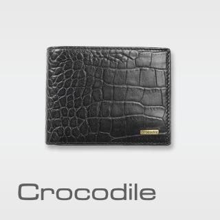 【Crocodile】Croco 義大利植物鞣製皮 鱷魚壓紋短夾 0103-5005(義大利植物鞣)