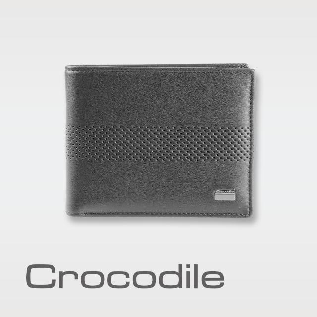 【Crocodile】Punch 系列拉鍊上翻短夾 0103-07903(義大利真皮皮革)