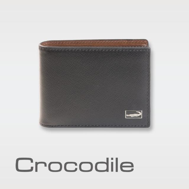 【Crocodile】Titanium系列短夾-中翻子夾款-0103-07802-01(義大利真皮皮革)