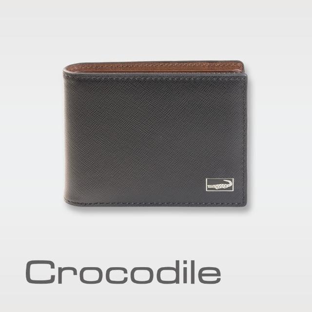 【Crocodile】Titanium系列短夾-抽取式子夾款-0103-07804-01(義大利真皮皮革)