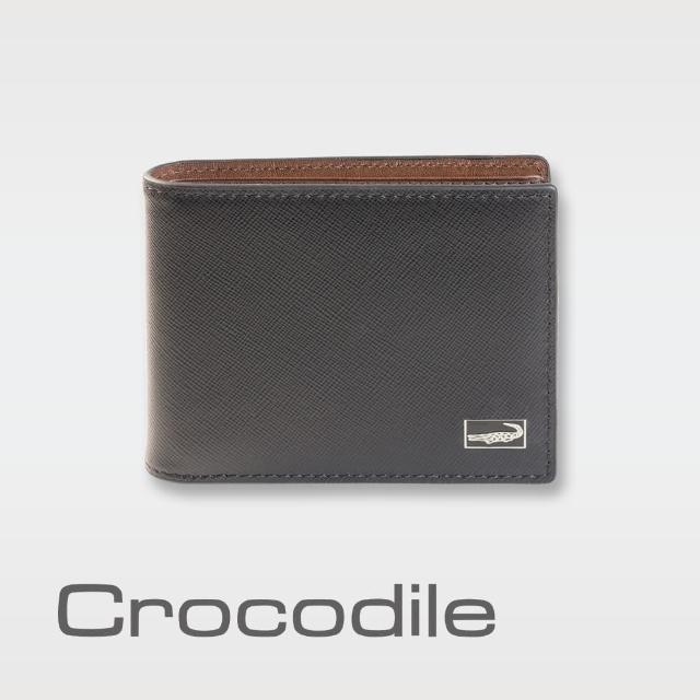 【Crocodile】Titanium系列短夾-拉鍊多卡夾款-0103-07805-01(義大利真皮皮革)
