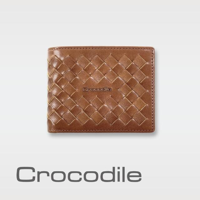 【Crocodile】Natural x Woven 編織短夾 0103-07303-02(義大利真皮皮革)