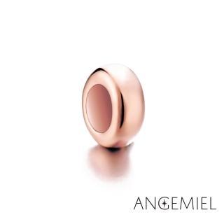 【Angemiel安婕米】925純銀珠飾 固定珠 簡約(玫瑰金)
