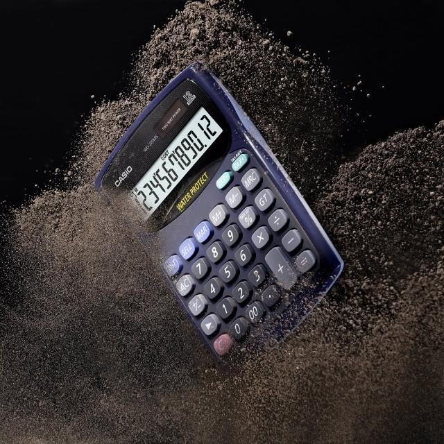 【CASIO卡西歐】12位數防水防塵商用計算機(WD-220MS-BU)
