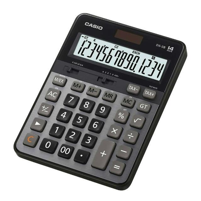 【CASIO卡西歐】14位數雙電源頂級商用計算機(DS-3B)