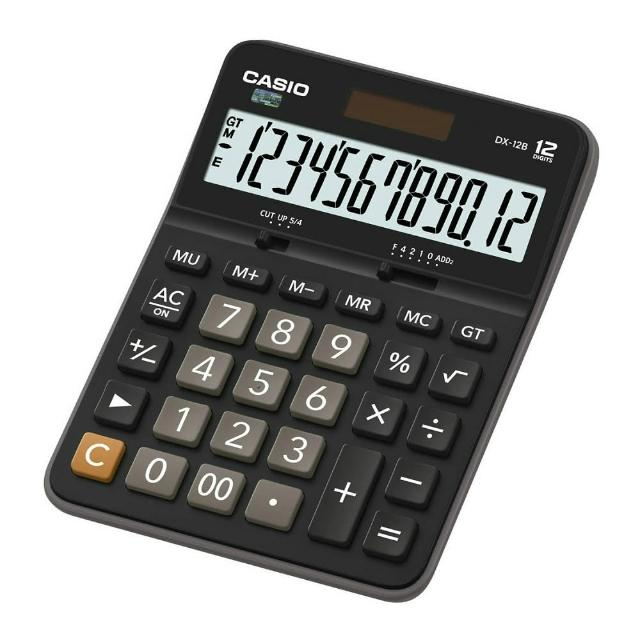 【CASIO卡西歐】12位數雙電源商用計算機(DX-12B)