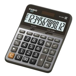【CASIO卡西歐】12位數雙電源商用計算機(DX-120B)