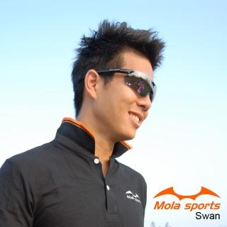 【MOLA SPORTS】摩拉偏光運動太陽眼鏡  超輕量 自行車 跑步(Swan-bl)