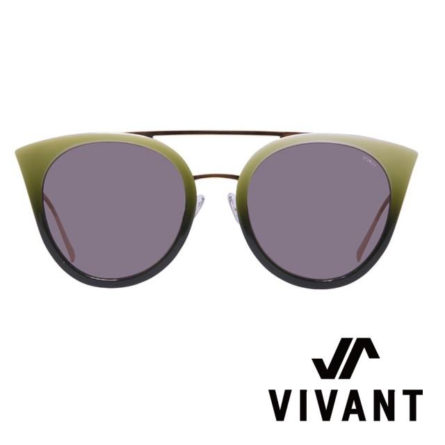 【VIVANT】彩蝶Ⅱ系列貓頭鷹造型雙樑太陽眼鏡.青蘋綠(PAPILON Ⅱ C2 - 明星款)