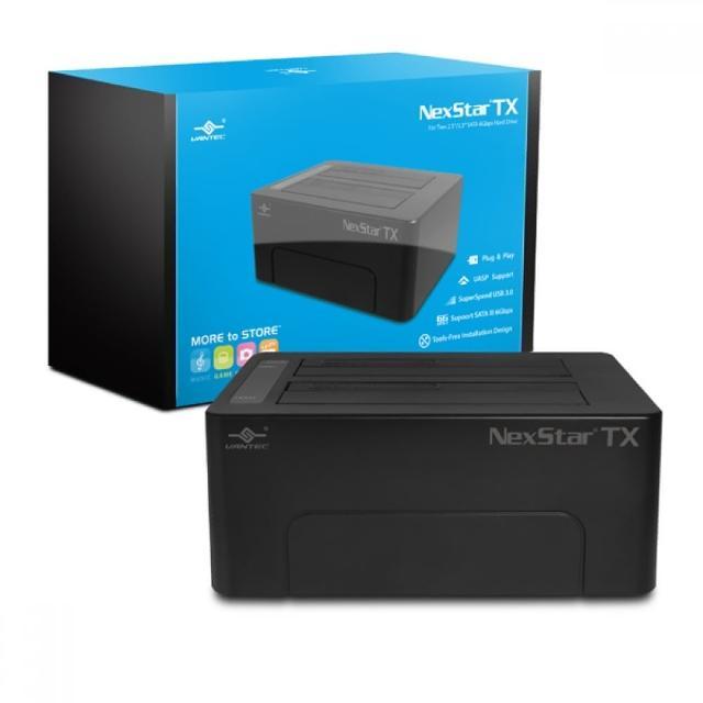 【凡達克】傳輸精靈TX2.5吋/3.5吋 SATA I/II/III 硬碟至超高速USB3.0硬碟外接座(NST-D428S3-BK)
