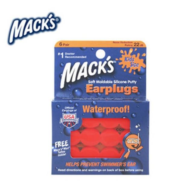 【Mack's】美國 兒童矽膠耳塞 防噪音 飛行 游泳 適用