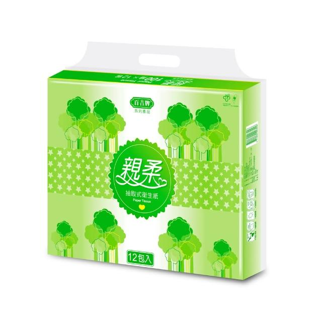 【百吉牌】親柔抽取式衛生紙100抽*64包