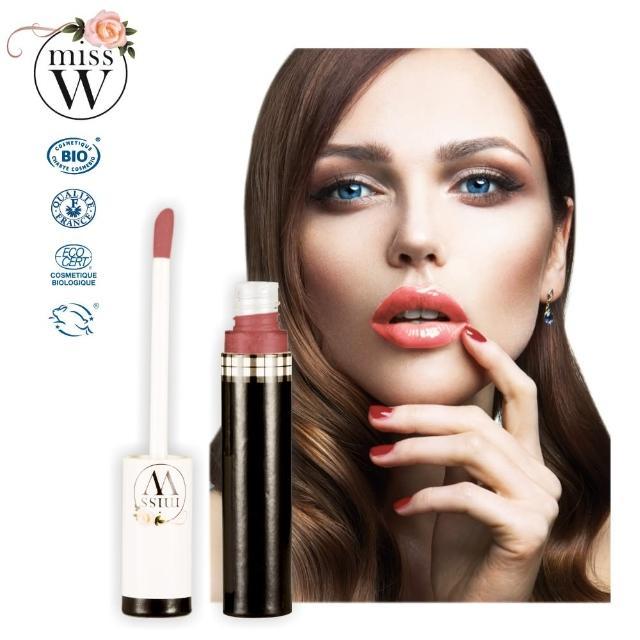 【法國Miss W】完美唇蜜-玫瑰粉9ml(法國原裝進口天然有機彩妝)