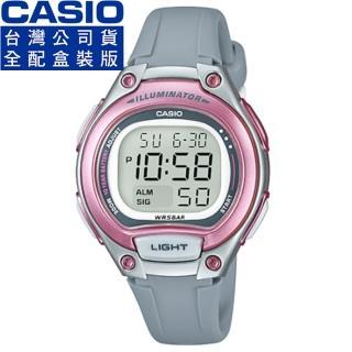 【CASIO】卡西歐鬧鈴多時區兒童電子錶-灰(LW-203-8A 公司貨全配錶盒)