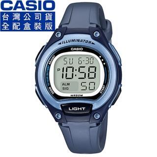 【CASIO】卡西歐鬧鈴多時區兒童電子錶-藍(LW-203-2A 公司貨全配錶盒)
