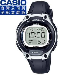 【CASIO】卡西歐鬧鈴多時區兒童電子錶-黑(LW-203-1A 公司貨全配錶盒)