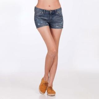 【Lee】中腰合身牛仔短褲(牛仔、短褲)