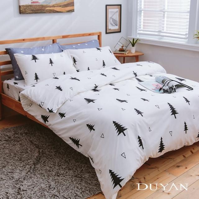 【DUYAN 竹漾】台灣製天絲絨雙人加大床包被套四件組-極簡生活