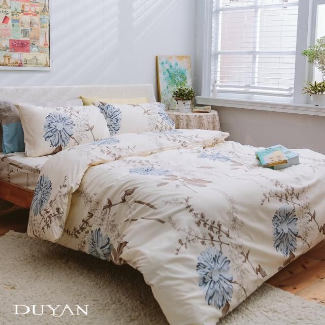 【DUYAN 竹漾】台灣製天絲絨雙人加大床包被套四件組-歐風情