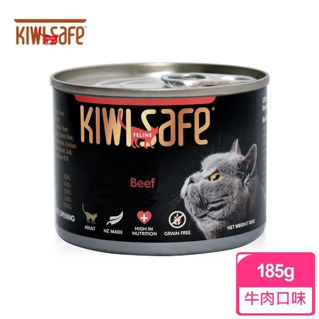 【紐西蘭/吉維氏 KIWI SAFE】天然無榖主食貓罐185g(牛肉 南瓜 蘋果 蔬菜)