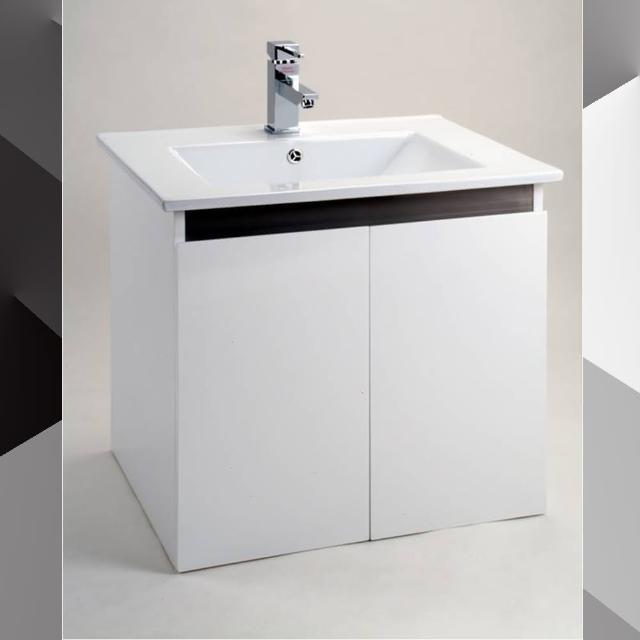 【CERAX】80公分一體成型陶瓷面盆+防水烤漆發泡板雙門浴櫃(加碼 送安裝)