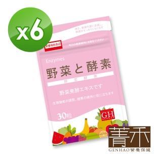 【菁禾GENHAO】野菜酵素 6袋(30粒/袋)