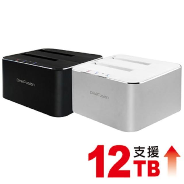 【伽利略】USB3.0 2.5/3.5 雙SATA 鋁合金硬碟座-黑(RHU08MA)