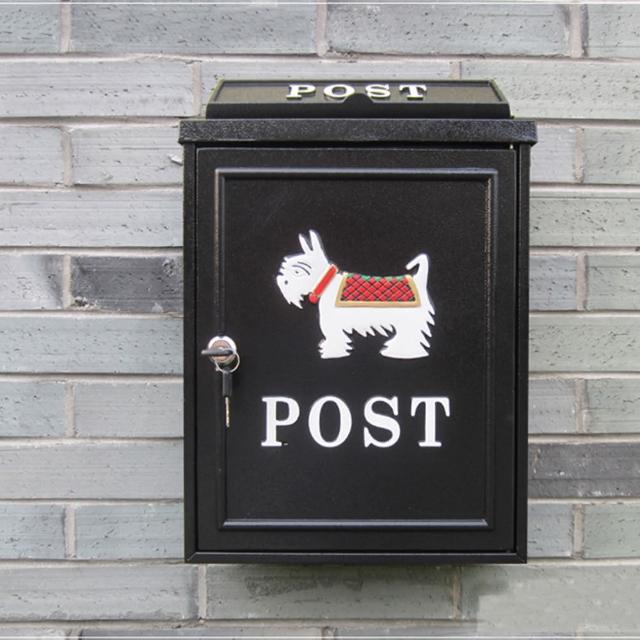 【PUSH!居家生活用品】英伦风小狗个性化信箱邮箱邮筒报纸箱(I51)