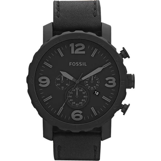 【FOSSIL】大世紀戰神三眼計時腕錶-IP黑/50mm(JR1354)