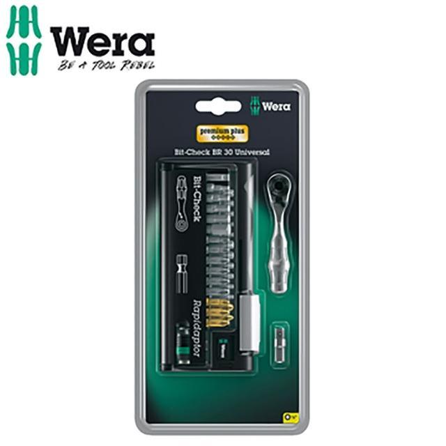 【德國 Wera】1/4 迷你棘輪扳手+起子頭31支組-附收納盒BC BR 30+8001A 1/4 SB