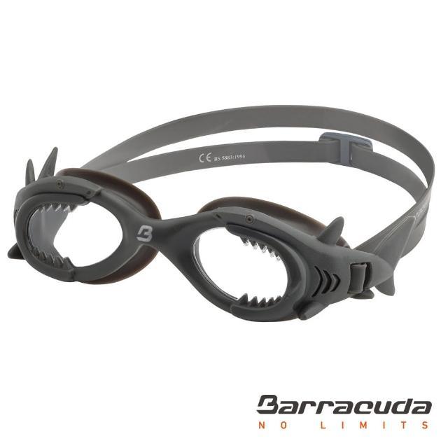 【美國巴洛酷達Barracuda】SHARK #13020 兒童防霧泳鏡-鯊魚(抗UV防霧7-15歲鯊魚造型泳鏡)